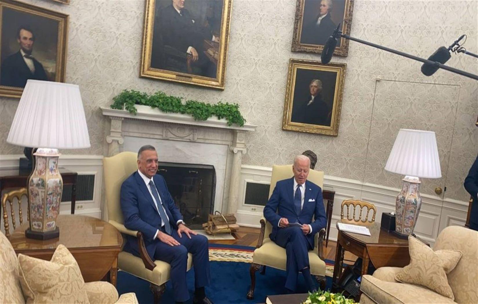 بدء اجتماع الكاظمي مع بايدن في البيت الأبيض